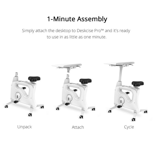 Flexispot Exercise Desk Bike Home Office Height Adjustable Standing Desk Cycle - Deskcise Pro - 2018 CES Innovation Awards Almost Fully Assemble