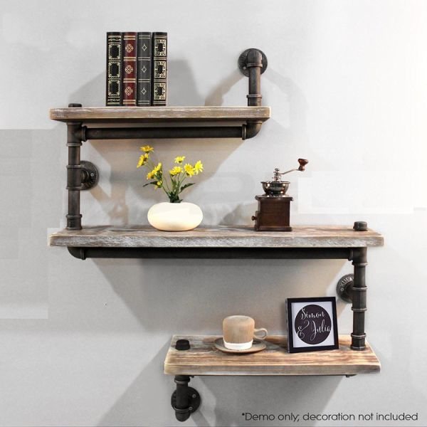 Shop For Industrial Pipe Shelving Bookshelf Rustic Modern Wood