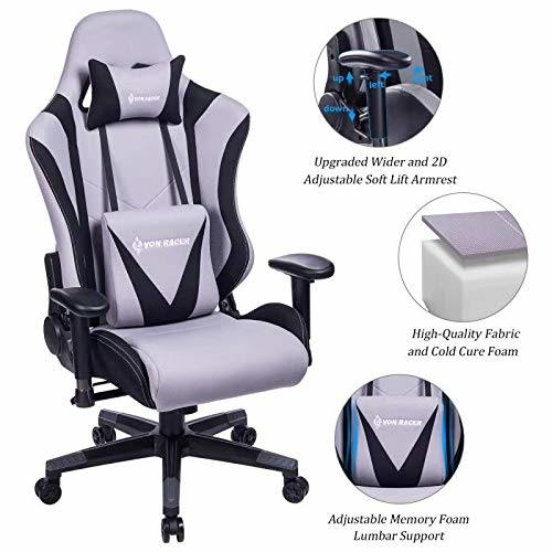 Shop For Von Racer Memory Foam Fabric Gaming Chair