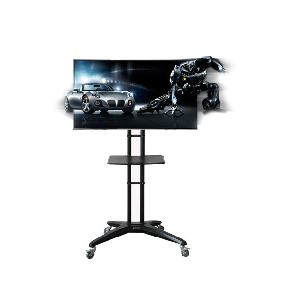 Shop For Fleximounts Tv Cart Mobile Tv Stand With Wheels For Most 32