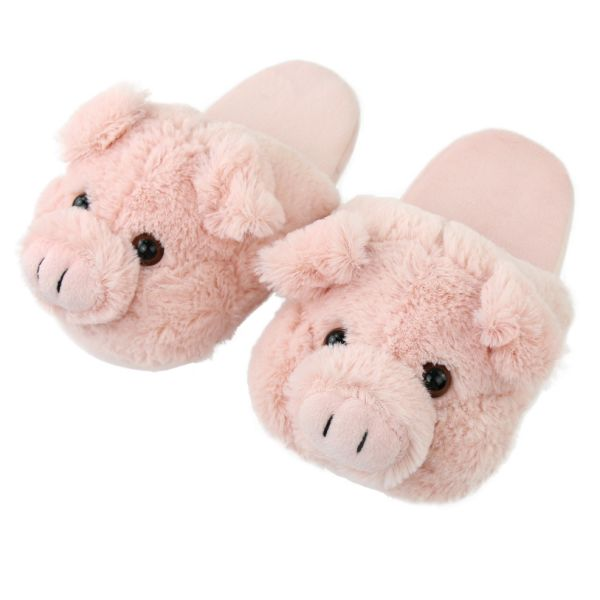 be433d33d790 Shop for Plush Pink Fluffy Pig Animal Indoor Slippers for Women at ...