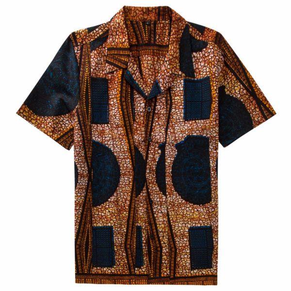 8301c22da20751 Small Orders Customized Nigerian Style African Wax Print Cotton Mens Ankara  Shirts ST107AFB-M