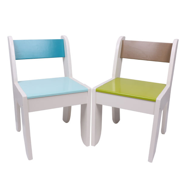 Labebe Chair For Kids Light Blue Color For 1 To 5 Years Old Kids Solid Wood Use For Painting Play In Classroom And Home Pair With Orange Owl Table