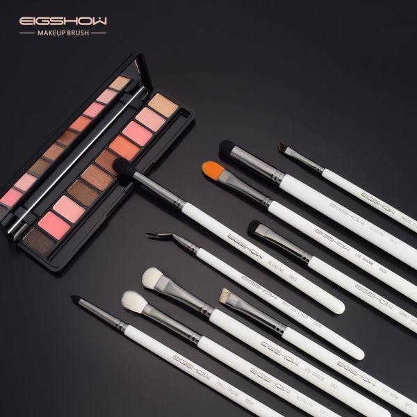 9bc6e5a781 10 Pcs Eye Makrup Brush Set Professional Eye Makeup Brushes for Eyeshadow  Concealer Eyeliner Brow Blending