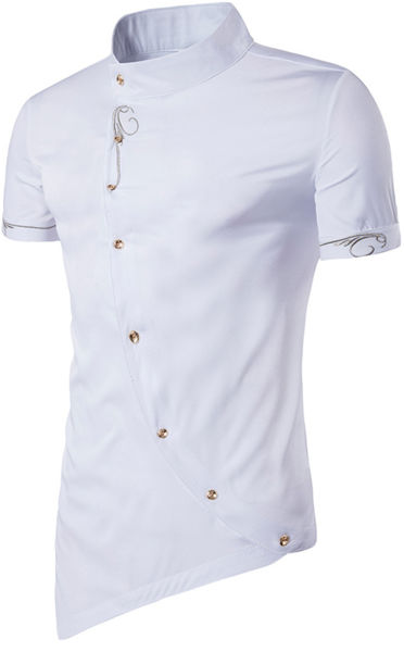 Shop For Whatlees Mens Short Sleeve Extra Long Embroidery