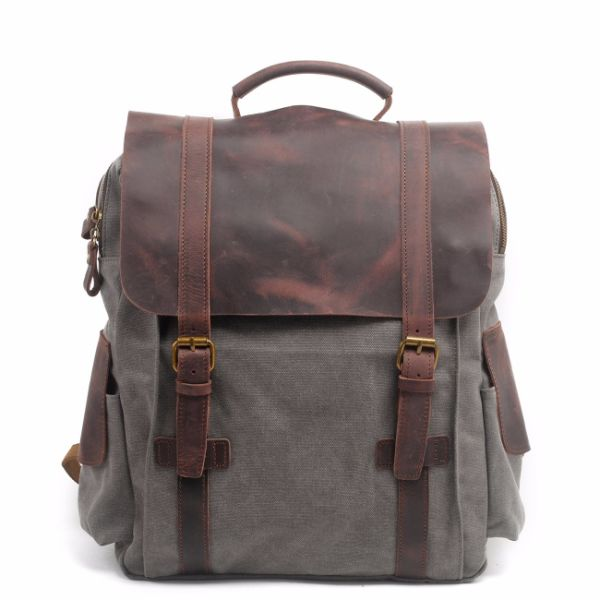 REDSWAN Leather Canvas Backpack - Vintage