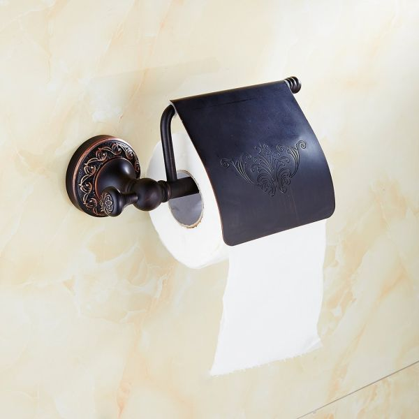 Flg Solid Br Wall Mounted Toilet Paper Holder Oil Rubbed Bronze 1 Piece Box