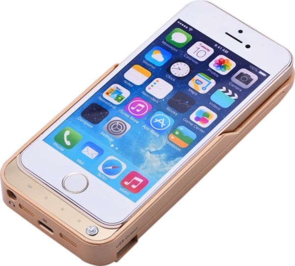 newest 2be9d 33637 4200mah Portable External Battery Power Bank Charger Case for iPhone 5 5s  5c Se, Gold Color 1 Piece / Package