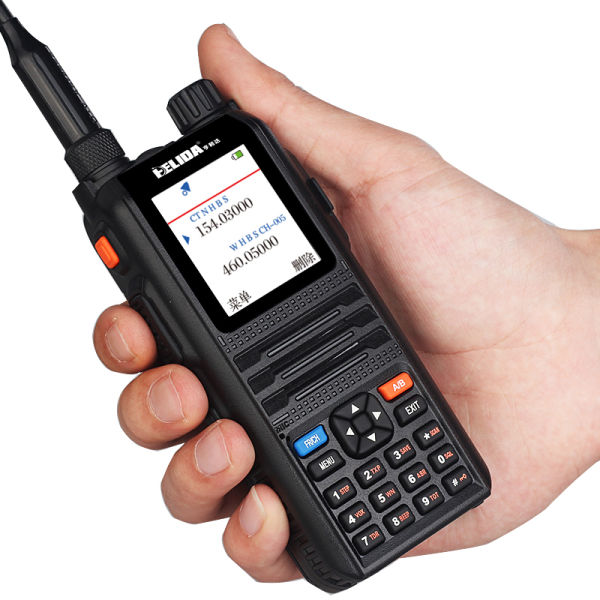 Color Display Two Way Radio Professional Transceiver 5W 128 Channels  CP-UV2000 VHF/UHF Tri-Band 136-174/200-260/400-520 MHz Walkie Talkie 1  Piece /