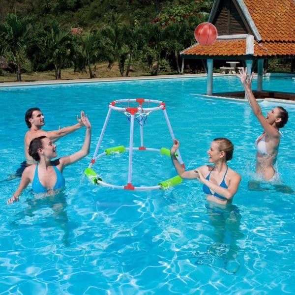 Shop for MECY Floaty Pool Basketball Hoop, Pool Basketball Goal ...