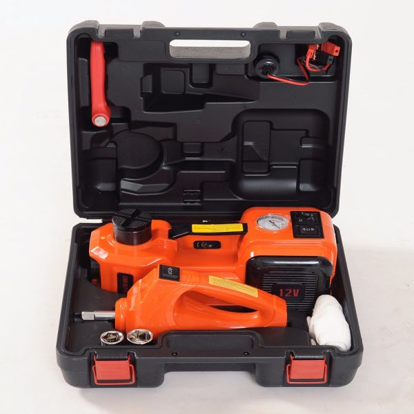 Portable 12v Electric Mini Hydraulic Car Jack With Impact Wrench 480n M