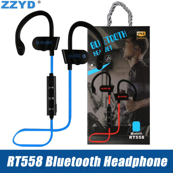 2aa3e7d752b ZZYD RT558 Bluetooth Headphones Ear Hook Wireless Bluetooth Headsets Noise  Cancelling Sweatproof Sport Earphones for iPhone