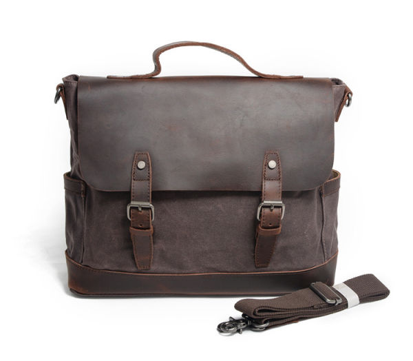 Redswan Messenger Bag for Men Vintage Canvas Leather Laptop Messenger Bags  Men Business Briefcase Vintage Large Shoulder Bag School College Satchel 1  Bag   ... a5b87f34b7e50