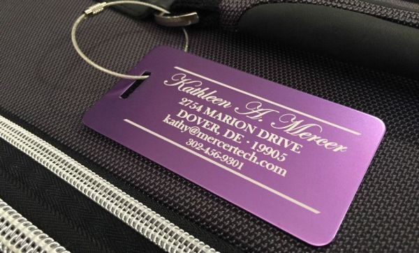 Personalized Aluminum Luggage Tags