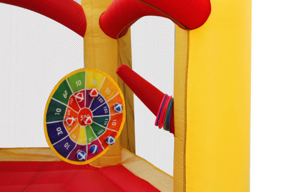 Bestparty Inflatable Jumping Castle With Spinning Windmill With Blower
