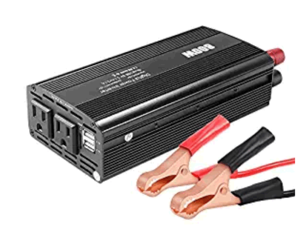 800w Car Inverter Dc 12v To 110v Ac Converter With Dual Outlets And 2 1a Usb Ports Portable Socket Adapter 1 Piece