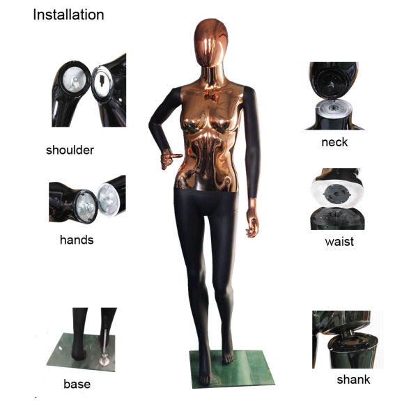 Mix Color Style PP Plastic Female Mannequin Full Body Standing Posture Window Display