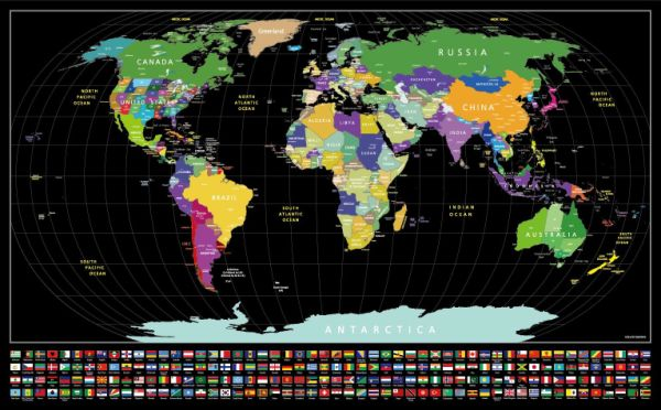Scratch Off World Map With Us States.Shop For Scratch Off Map Of The World With States And Flags Black