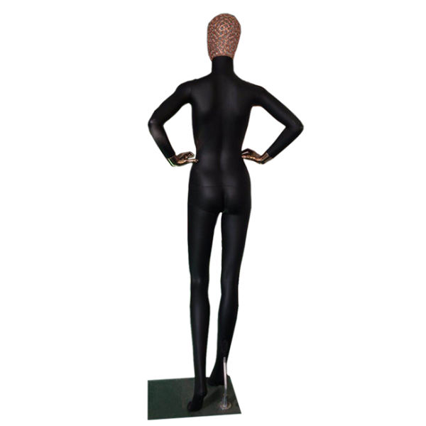Mix Color Style PP Plastic Female Mannequin Full Body Standing Posture