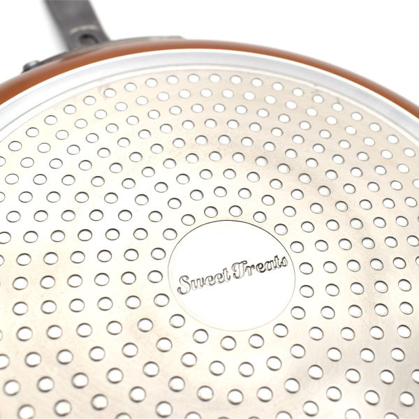 8 Inches Non-stick Copper Frying Pan with Ceramic Coating and Induction cooking,Oven & Dishwasher safe