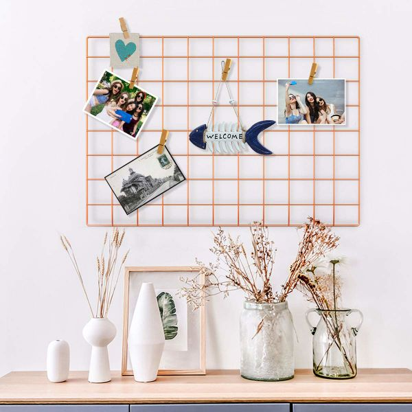 Shop For Wire Wall Grid Panel For Photo Hanging Display Metal Grid