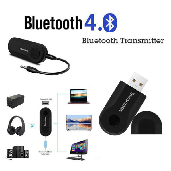 Portable Wireless Stereo Bluetooth Audio Transmitter Adapter for TV/Projector/Phone/PC/MP3/MP4 Music Players