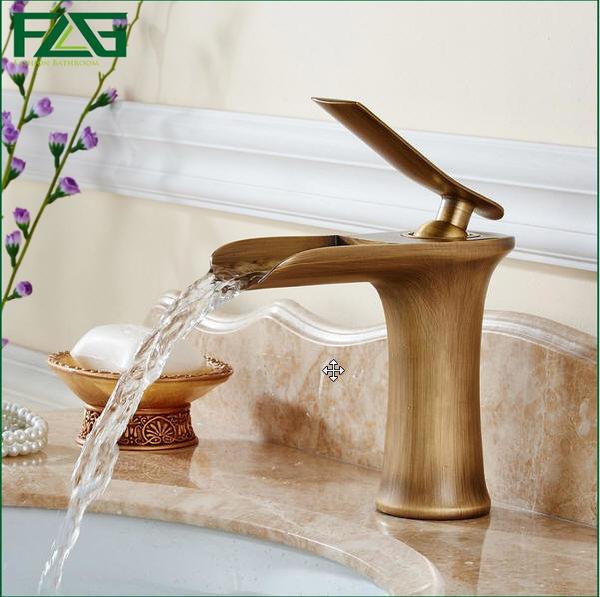 shop for flg multiple choices basin faucet waterfall lavabo antique vintage sink grifo cascada. Black Bedroom Furniture Sets. Home Design Ideas