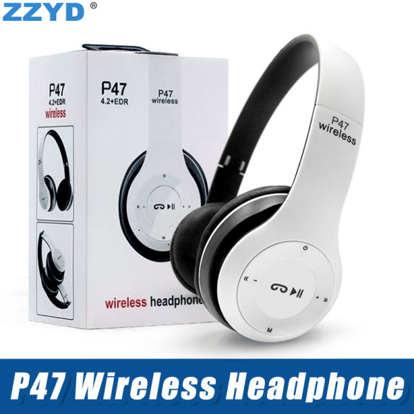 ZZYD P47 Foldable Wireless Bluetooth Headphone Super Stereo Bass Effect Portable Headset For iP 8 8P X Samsung Note8 DVD MP3