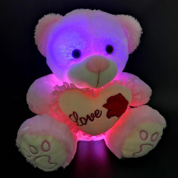 Shop For Free Shipping Light Up Plush Sitting Teddy Bear Led Teddy