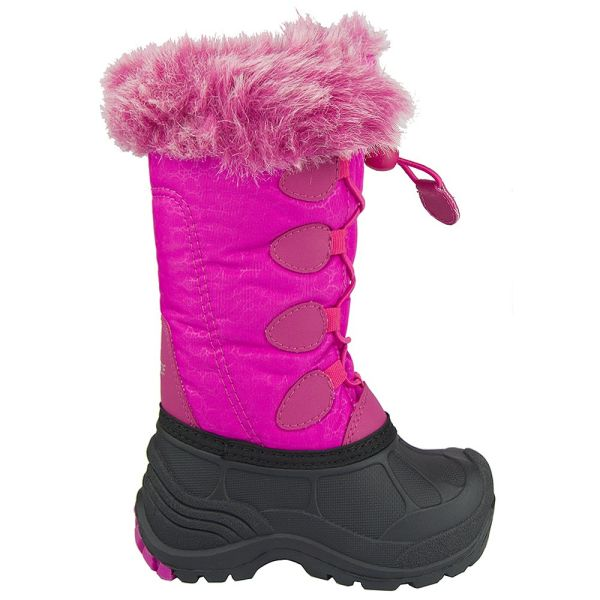 Kids Snow Boots for Girls Boys and Toddlers, Anti-Slip Waterproof Insulated Winter Boots with Fur Lining