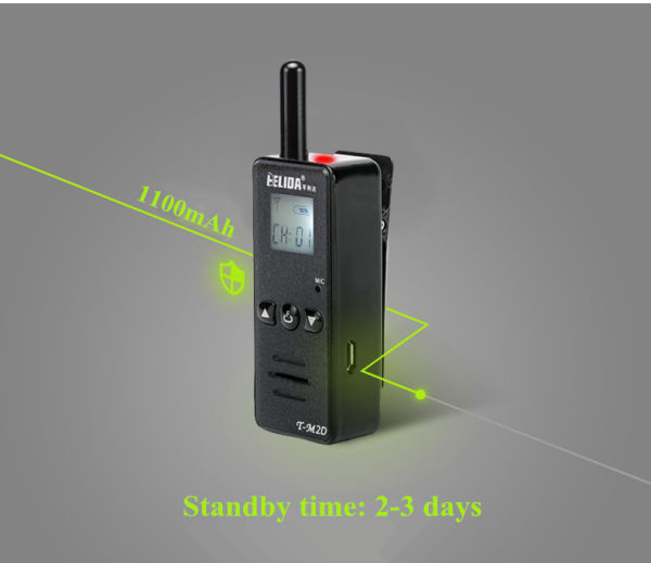 2W Super Mini Two Way Radio HELIDA T-M2D FRS GMRS UHF 400-520MHz Mini  Walkie Talkie for Outdoor 1 Piece / Box