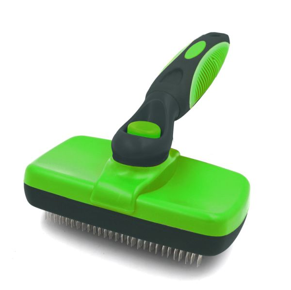 Self Cleaning Slicker Brush - Gently Removes Loose Undercoat, Mats and Tangled Hair - Your Dog or Cat Will Love Being Brushed with The Grooming Brush