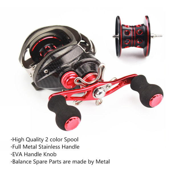 Fishing Reel With Low-Profile Baitcasting Reel Ultra Smooth Magnetic Brake  System 6 3:1 Gear Ratio Bait Casting Fishing Trolling Reel 12+1bb Right