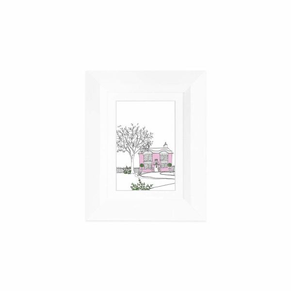 Shop For Edgewood Lakewood 5x7 White Photo Frame With Mat For 4x6