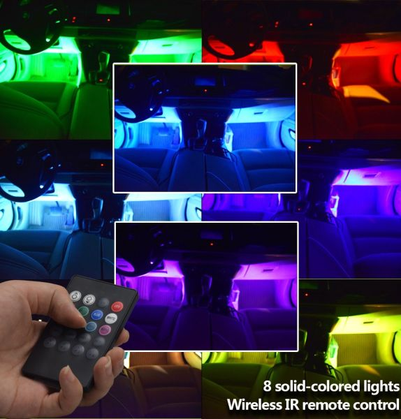 Underdash Light Led Interior Atmosphere Lights Multi Color 8 With Sound And Dc