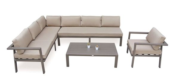 Shop For Stellahome Aluminum Outdoor Sectional Patio Sofa