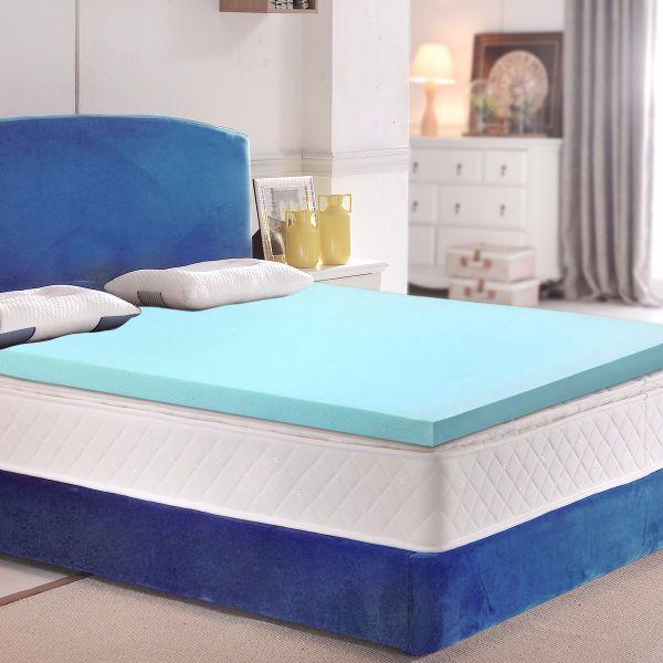 189f043e6b ESHINE 3- Inch Gel Infused Visco Elastic Memory Foam Mattress Pad Bed  Topper 3-