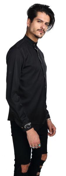 Whatlees Mens Long Sleeve Extra Long Embroidery Design Party Club Button  Down Dress Shirt B404- b3faaca98e3