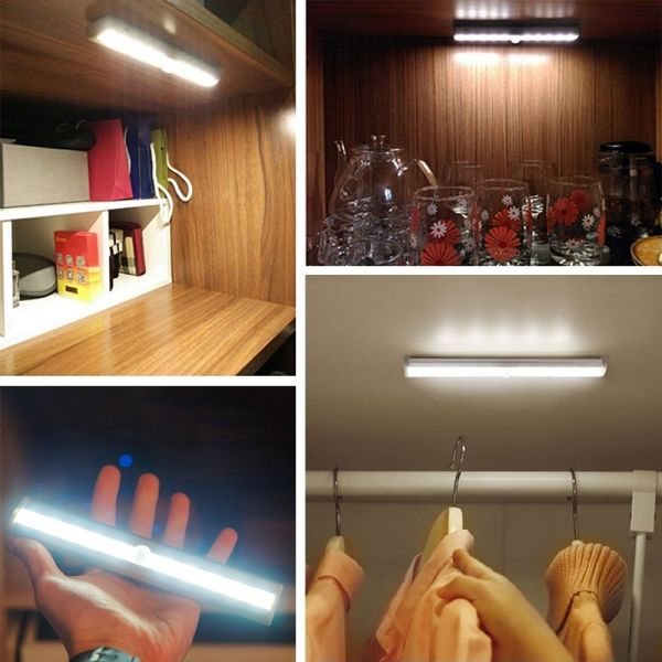 4pcs Bar Kit Kitchen Night Light Under Cabinet Counter Led: Shop For Portable Wireless Motion Sensor Night Light Under
