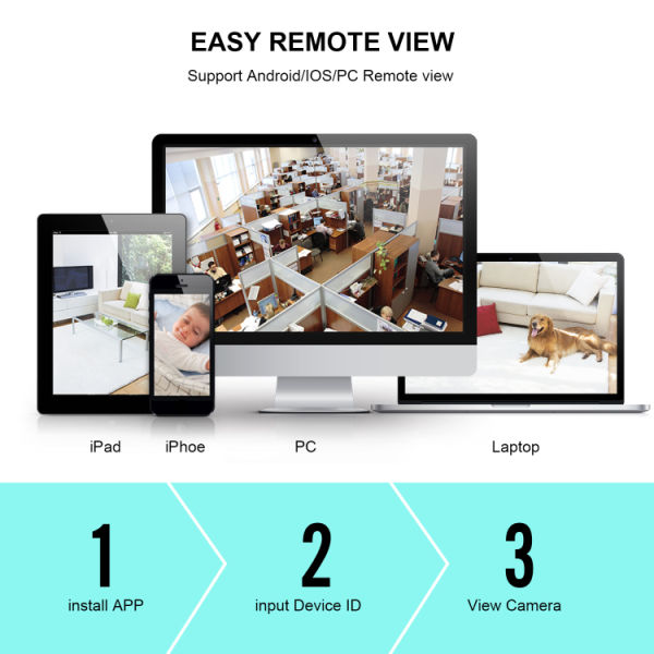 HD 1280×720 CCTV wireless wifi 1MP Night Vision Security Network Camera System