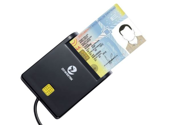 Zoweetek DOD Military USB Common Access CAC Smart Card Reader, Compatible  with Windows, Mac OS and Linux 1 Piece / Box