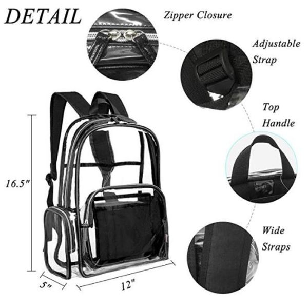 cffe017d2486 Shop for CLOUDYBAY Nice Ebag Clear Backpack with Cosmetic Bag Makeup ...