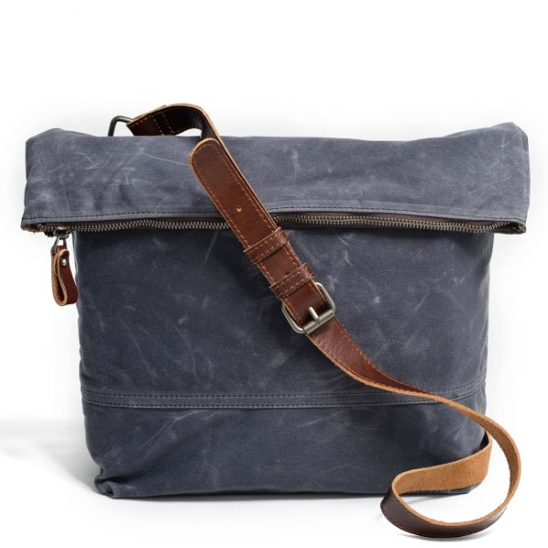 e30ae0a102b REDSWAN Totes Bag Canvas Waxed Canvas Messenger Bag Type-Shifting Canvas  Bag Womens Large Waterproof Crossbody Bag Large Shoulder Bag Leather Handle  ...