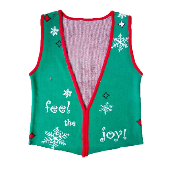Christmas Sweaters Cute.Christmas Sweater Vest Cute Red Santa Knit Xmas Sweater 1 Piece Package