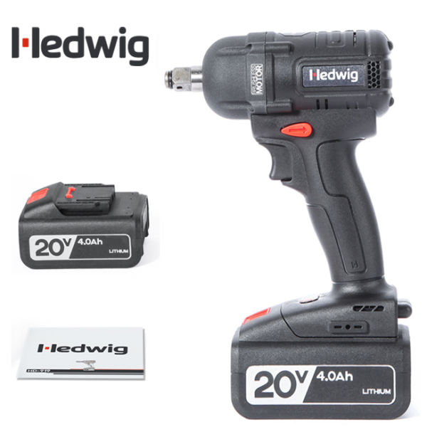 For Hedwig Hd919w 20v Brushless 1 2 Inch Cordless High Torque Impact Wrench With 4 0ah Lithium Lon Battery Pack Black Small Handle At Whole