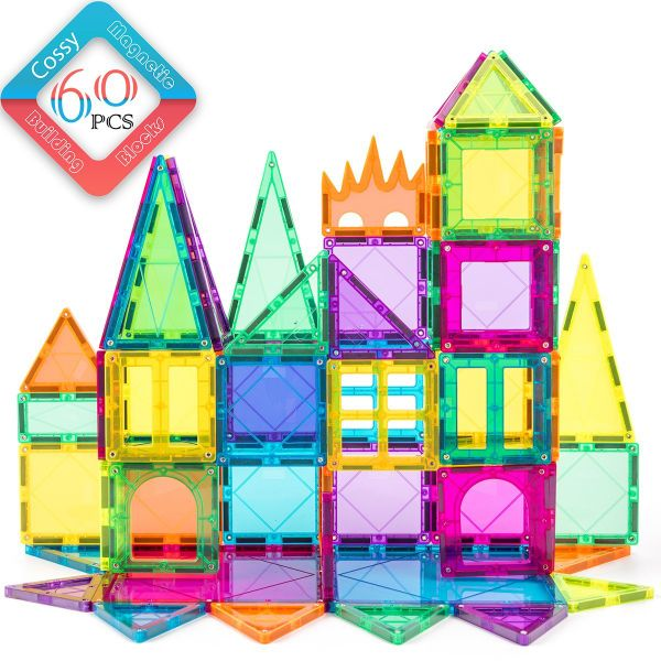 Magnet Tiles Building Block Cossy 60pcs Magnetic Stick And Stack Set For S Boys