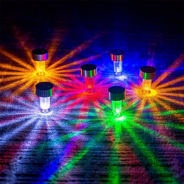 Shop For 12 Packs Color Changing Solar Garden Lights