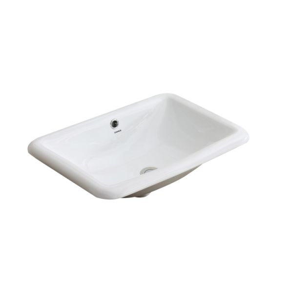 Shop For Changie 1027w Bathroom Top Mount Vanity Sink Porcelain Drop In Basin White 22 X 15 Inches At Wholesale Price On Crov Com