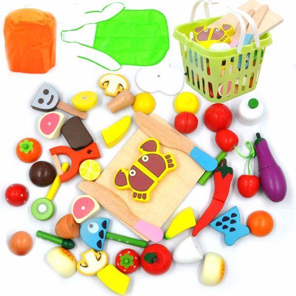 Shop For Gybber Mumu Kitchen Wooden Toys Fun Cutting Fruits
