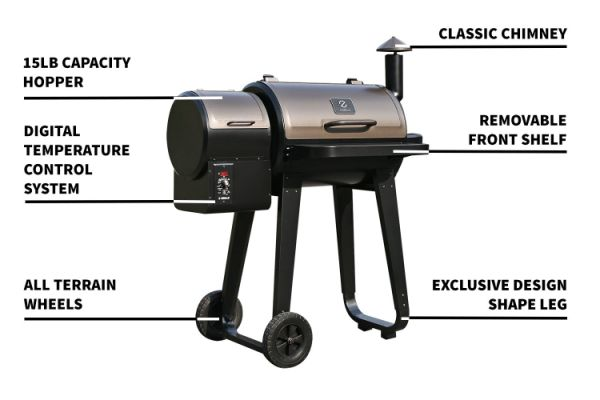 Shop For Z Grills Zpg 450a Wood Pellet Grills Amp Smoker 8 In 1 Digital Controls Barbecue Grill